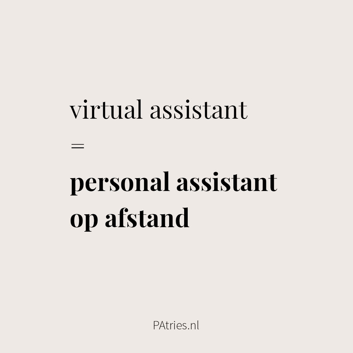 wat is een virtual assistant PAtries